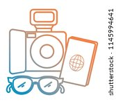 camera photographic with...   Shutterstock .eps vector #1145994641