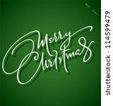 merry christmas hand lettering  ... | Shutterstock .eps vector #114599479