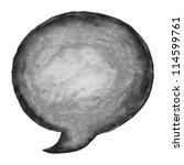 black watercolor blank speech... | Shutterstock .eps vector #114599761