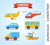 set of transportation vehicles | Shutterstock .eps vector #1146007064