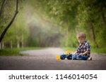 portrait of cute kid boy... | Shutterstock . vector #1146014054