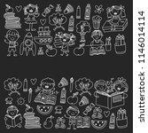 school  kindergarten boys and... | Shutterstock .eps vector #1146014114
