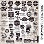 set of vintage retro labels ... | Shutterstock .eps vector #114601807