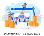 concept startup launch of a new ... | Shutterstock .eps vector #1146021671