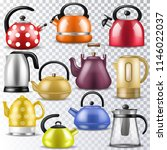 kettle vector teakettle or... | Shutterstock .eps vector #1146022037