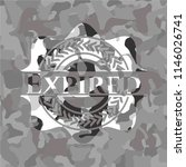 expired on grey camouflaged... | Shutterstock .eps vector #1146026741