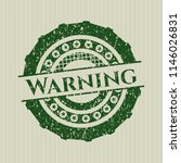 green warning distress rubber... | Shutterstock .eps vector #1146026831