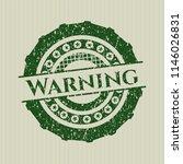 green warning distress rubber... | Shutterstock .eps vector #1146026831