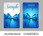 blue gift cards with bow | Shutterstock .eps vector #114602821