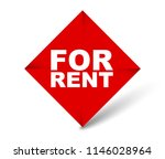 red vector banner for rent | Shutterstock .eps vector #1146028964