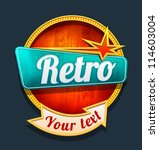 retro motel sign. vector | Shutterstock .eps vector #114603004