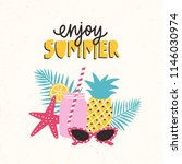summertime composition with... | Shutterstock .eps vector #1146030974