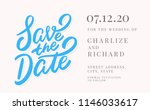 save the date. invitation... | Shutterstock .eps vector #1146033617