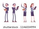 male and female teacher...   Shutterstock .eps vector #1146034994