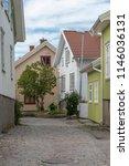 old part of mollosund in sweden   Shutterstock . vector #1146036131