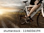 racing bike on country road | Shutterstock . vector #1146036194