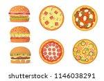 illustration of various fast... | Shutterstock . vector #1146038291