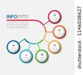vector infographic template for ... | Shutterstock .eps vector #1146038627