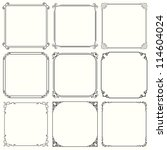 vector decorative frames  set... | Shutterstock .eps vector #114604024
