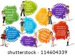 colorful template for... | Shutterstock .eps vector #114604339