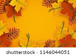 autumn background  tree paper... | Shutterstock .eps vector #1146044051