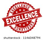 excellence seal imprint with... | Shutterstock .eps vector #1146048794