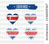 costa rica. collection of four... | Shutterstock .eps vector #1146049367