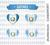 guatemala heart with flag... | Shutterstock .eps vector #1146049397