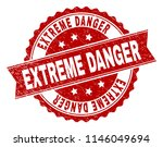 extreme danger seal print with... | Shutterstock .eps vector #1146049694