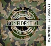 confidential camouflaged emblem | Shutterstock .eps vector #1146050711