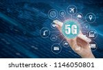 5g network wireless systems and ... | Shutterstock . vector #1146050801