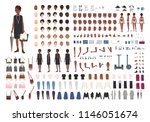 stylish young african american... | Shutterstock .eps vector #1146051674