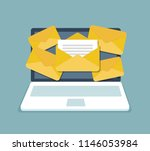 email notification concept.... | Shutterstock .eps vector #1146053984