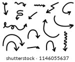 doodle hand drawn vector arrows ... | Shutterstock .eps vector #1146055637