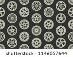 seamless pattern with car... | Shutterstock .eps vector #1146057644