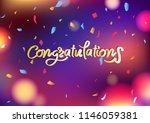 congratulations message ... | Shutterstock .eps vector #1146059381