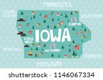 illustrated map of the state of ...   Shutterstock .eps vector #1146067334