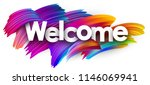 welcome poster with spectrum... | Shutterstock .eps vector #1146069941