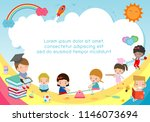 back to school  kids school ... | Shutterstock .eps vector #1146073694