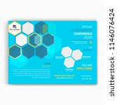 horizontal conference flyer... | Shutterstock .eps vector #1146076424