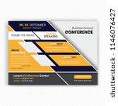 horizontal conference flyer... | Shutterstock .eps vector #1146076427