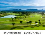 golf course with a rich green... | Shutterstock . vector #1146077837