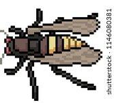 vector pixel art insect moth... | Shutterstock .eps vector #1146080381