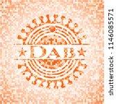 dab orange mosaic emblem with... | Shutterstock .eps vector #1146085571