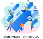 concept career growth  career ... | Shutterstock .eps vector #1146092627