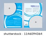 blue and white business... | Shutterstock .eps vector #1146094364
