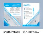 blue and white business... | Shutterstock .eps vector #1146094367