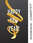 happy new year with golden... | Shutterstock .eps vector #1146097577