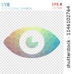 eye polygonal symbol  amazing... | Shutterstock .eps vector #1146102764