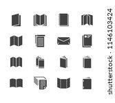 brochure flat glyph icons.... | Shutterstock .eps vector #1146103424